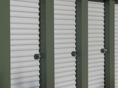 side of storage units