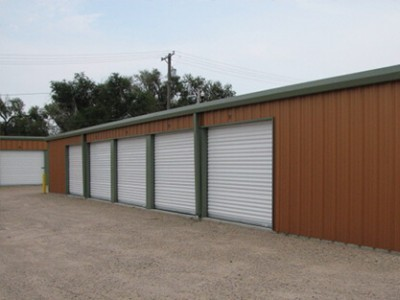 right side of storage units